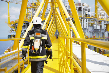 Fire fighter on oil and gas industry, successful firefighter