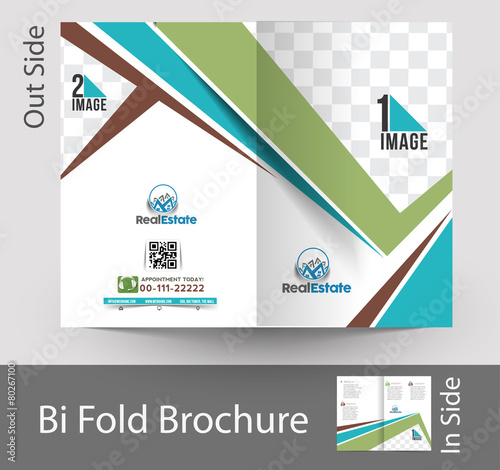 Architecture Design Brochure real estate & architecture bi-fold mock up & brochure design