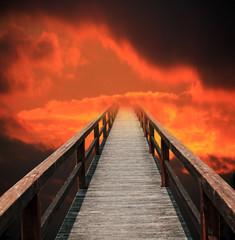 Himmelfahrt, Weg in einen roten Himmel