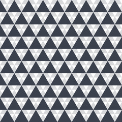 Seamless pattern Black triangle on white background