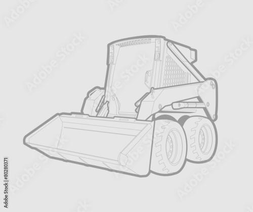 Bobcat Skid Steer Cartoon
