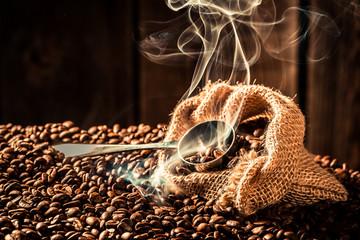 Coffee bag full of aroma seeds