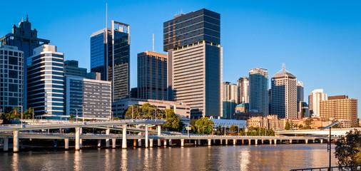 Printed kitchen splashbacks Australia Brisbane skyline, Australia
