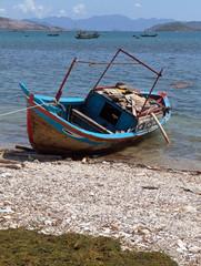 Schiffe Mekong Fischdorf Boot