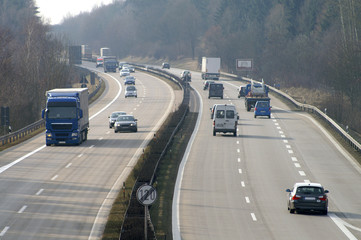 Fototapete - Autobahn morgens