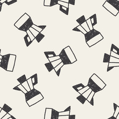 Juicer doodle drawing seamless pattern background