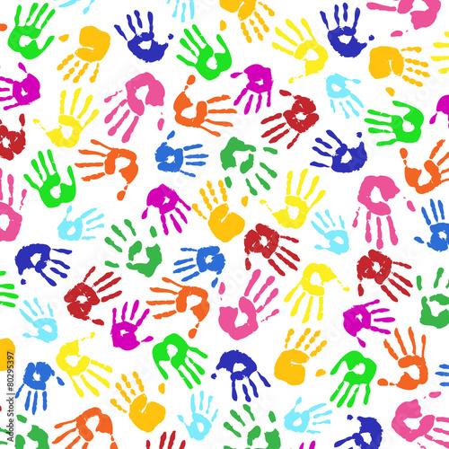 Handabdrucke Von Kindern Bunt Vielfalt Stockfotos Und Lizenzfreie