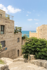 Deserted streets in old Jaffa. Israel