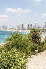 View of the sea in Tel Aviv