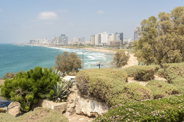 View of the sea in Tel Aviv