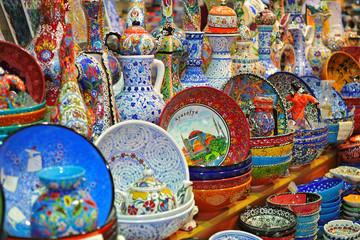 Porcelain souvenirs of Istanbul Grand Bazaar