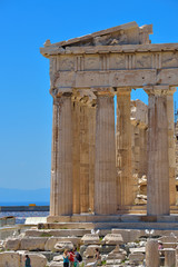 Greek ruins of Parthenon at Acropolis