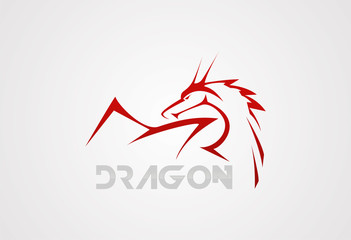 Dragon vector logo design illustration