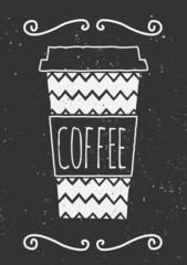 Chalkboard Style Coffee Cup Design