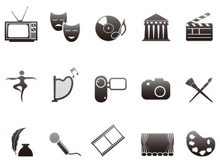 culture and art icons set