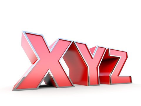 XYZ on white background