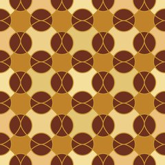 Abstract mosaic geometric pattern in golden colors