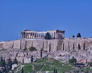 Athens, Greece, Parthenon ancient temple on Acropolis hill