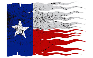 Wavy Texas Flag Grunged