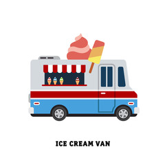 trailer fast food vector illustration isolated