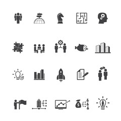 Global Business Icon Set
