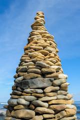 Pyramid on the seashore