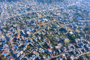 Pokhara aerial view, Nepal