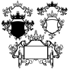 crown and bows design elements