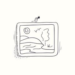 Sketched desktop picture icon