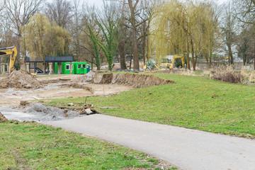 Umgestaltung eines Stadtparks