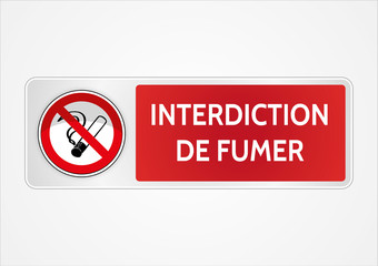 Photos illustrations et vid os de interdit de fumer - Panneau interdiction de fumer ...