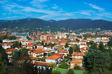 view over italian city bergamo.