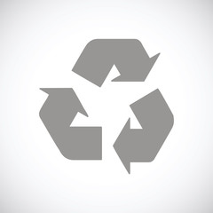 Recycling black icon