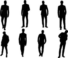 Set of  male fashion silhouettes