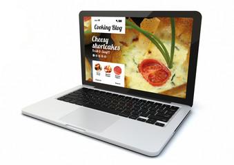 laptop cooking blog