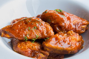 Chicken baked in tomato sauce