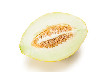 half of yellow melon