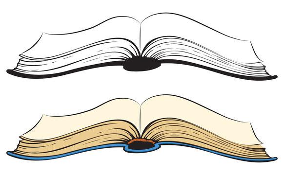 Open book. Vector sketch