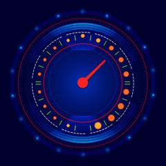 Futuristic car speedometer vector