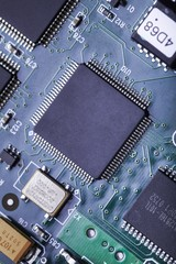 Motherboard. electronic circuit board with processor