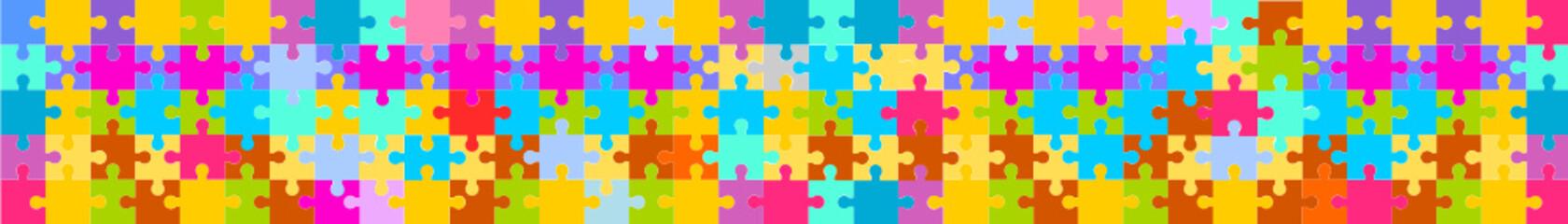 puzzle banner flat hintergrund