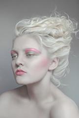 Pale beauty portrait od blond woman