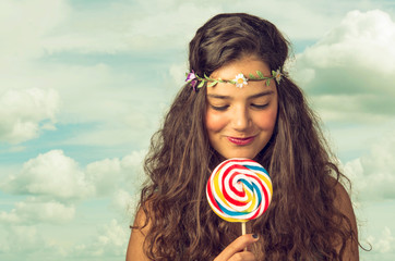 Teenager with Lollipop