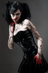 Young gothic girl