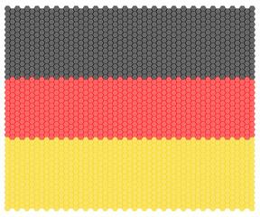 Illustration german national flag nation people octagon concept