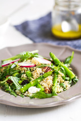Ouinoa with Asparagus and Feta salad