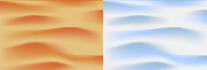 set of two realistic textures of the desert and snow cover