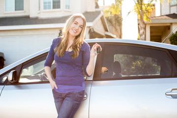 Woman car