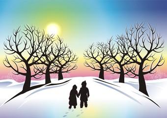 Children in Winter Wonderland