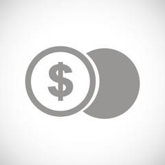 Dollar coin black icon
